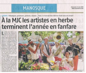 2009 - LA 'TIT FANFARE - Fête de la MJC MANOSQUE
